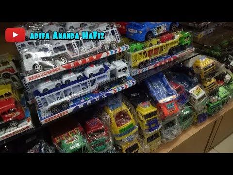 Mainan Anak - Belajar Berhitung & Warna Bahasa Inggris - Unboxing Mainan Mobil Truk Domino Dan Tank