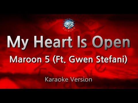 Maroon 5-My Heart Is Open (Ft. Gwen Stefani) (Melody) (Karaoke Version) [ZZang KARAOKE]