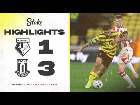 Watford 1-3 Stoke City |  The highlights of the Carabao Cup