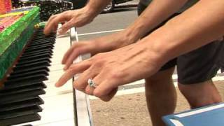 Tickling the ivories on New York sidewalks
