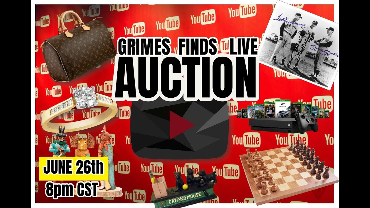Grimes Finds LIVE YOUTUBE AUCTION! June 29th 2020