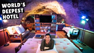 WE SLEPT 220 FEET BELOW GROUND (worth $1,000 per night?)