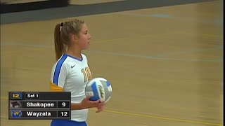 Shakopee vs. Wayzata Girls High School Volleyball