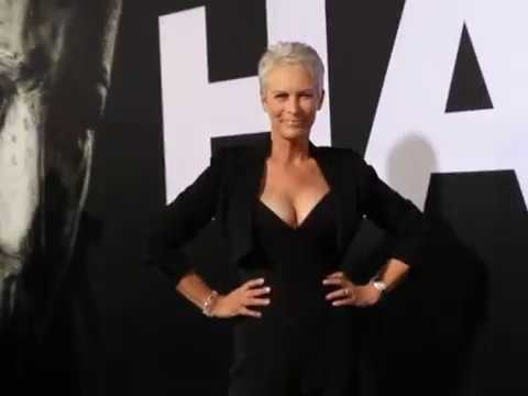 Jamie Lee Curtis arrives at Halloween premiere in Hollywood