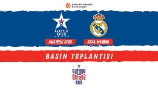 Anadolu Efes - Real Madrid Basın Toplantısı