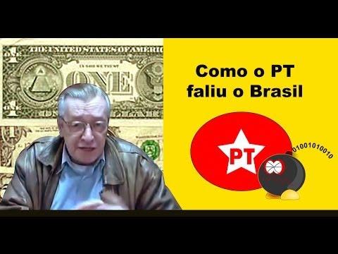 Como o PT faliu o Brasil e o problema dos brasileiros.