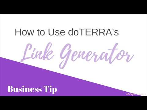How to Use doTERRA Link Generator?
