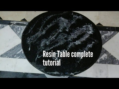 How to make resin Table step by step tutorial #resin_table #resin #home_décor #diy