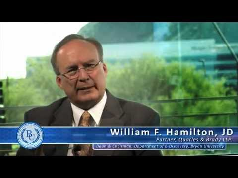 Bryan University - Who Could Start an e-Discovery Career by William F. Hamilton