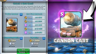 NEW CANNON CART CHALLENGE!! 12 Win Push - Cannon Cart! New Card 2v2 Challenge - Clash Royale thumbnail