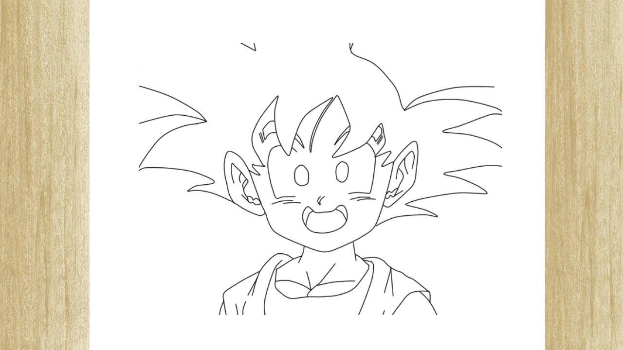 How To Draw Goten From Dragon Ball Z Como Desenhar O Goten De