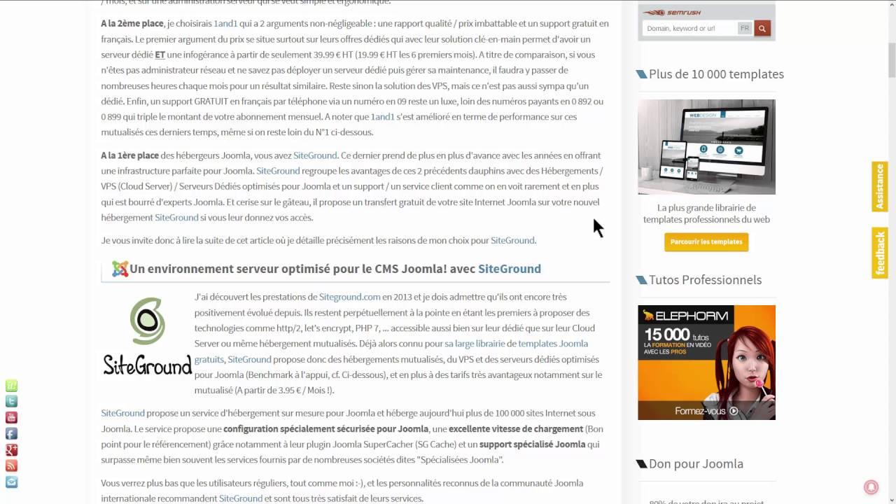 Les fondamentaux Joomla - Hébergement : Faire le bon choix
