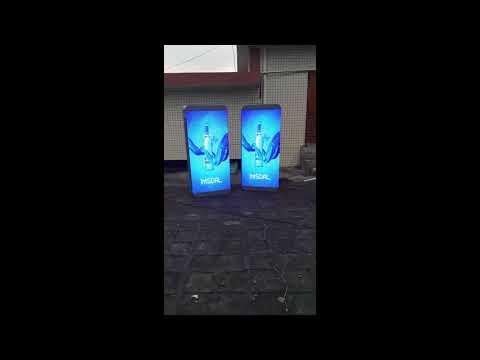 Outdoor Street Light Video Advertising Lamp Post LED Display