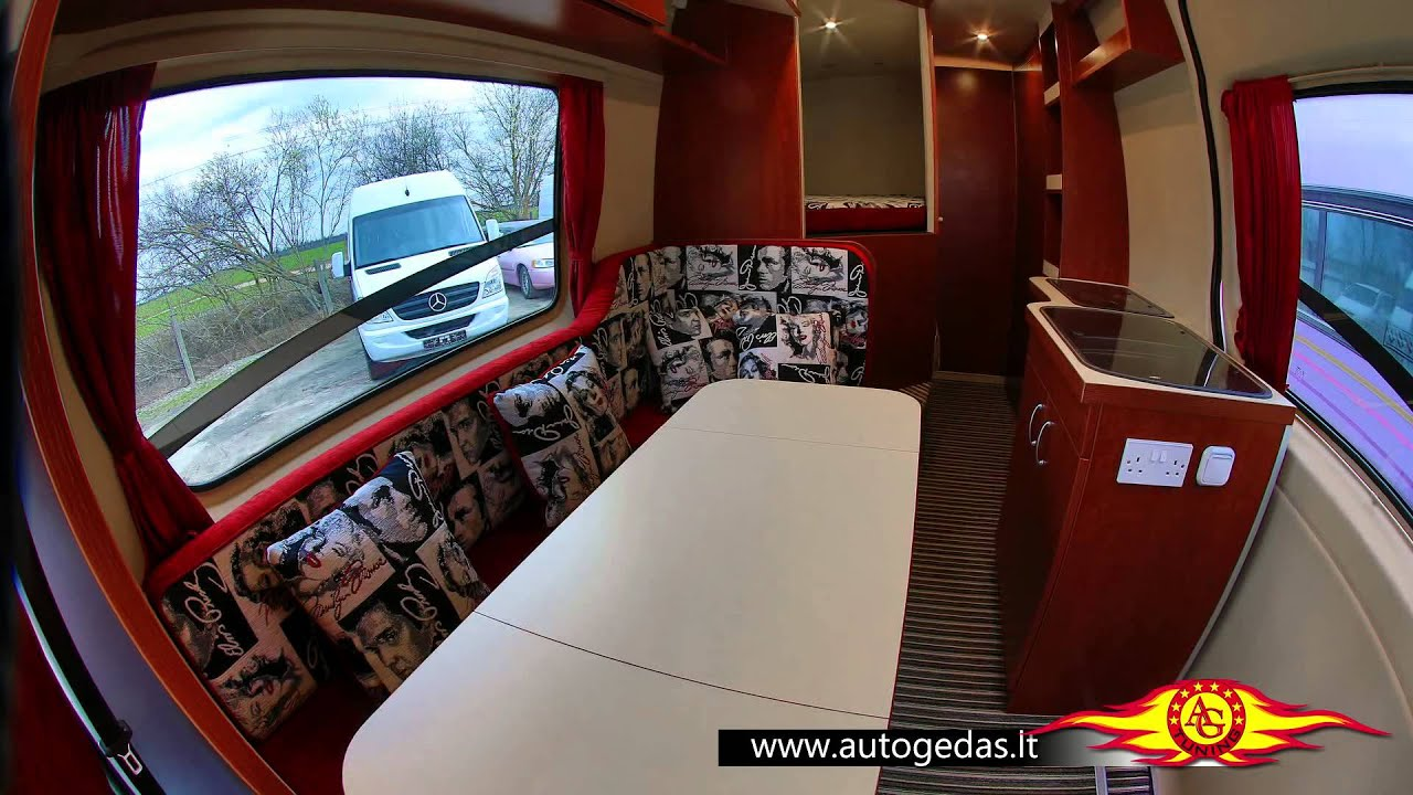 MERCEDES-BENZ Sprinter white Interior full mods to camper - YouTube