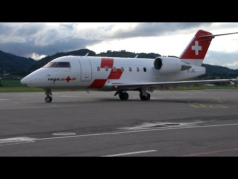 REGA - Bombardier Challenger 604 Engine Start-Up & Take Off