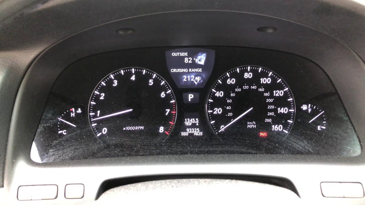 2008 Lexus LS460 VSC ABS Warning Light Problems