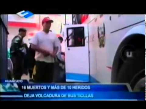 19 muertos tras caída de bus