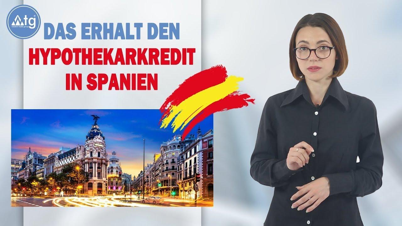 Das Erhält den Hypothekarkredit in Spanien