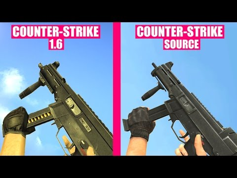 Counter-Strike Source Gun Sounds vs Counter-Strike 1.6
