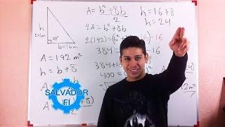 Encontrar el Valor de los Catetos Conociendo el Área de un Triángulo