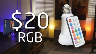 "$20 Cheap RGBW ""Smart"" Lightbulbs for your Room & Setup! - Phillips Hue Alternative 