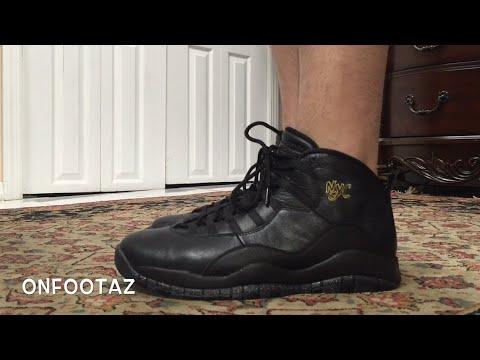 cfca47ea3cffa3 Air Jordan 10 X NYC 2016 On Foot - YouTube