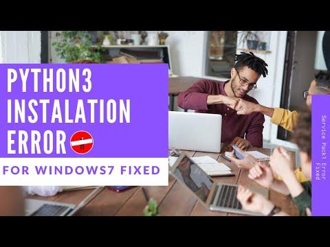 How To Install Python 3.7 On Windows 7   Python3 Setup Failed In Windows 7 Sp1 Error[Solved]