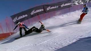 Championship Snowboard Cross Wipe-outs - from Universal Sports
