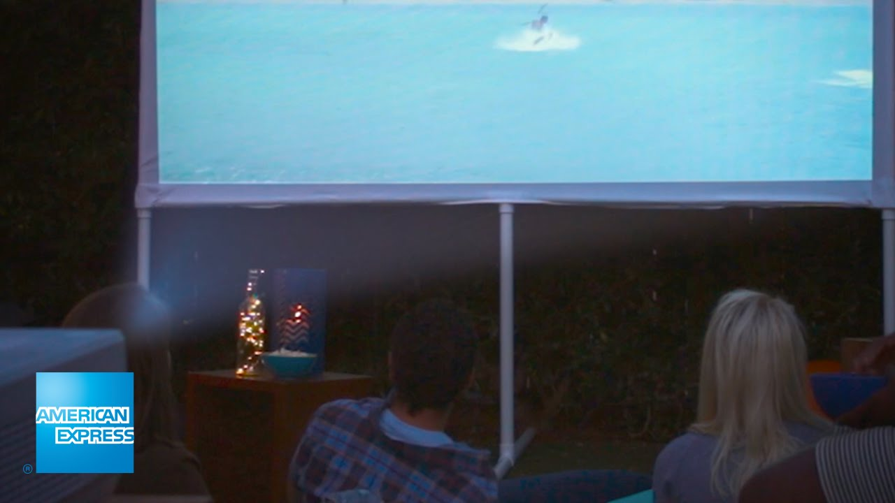 diy outdoor movie screen epic everyday american express youtube