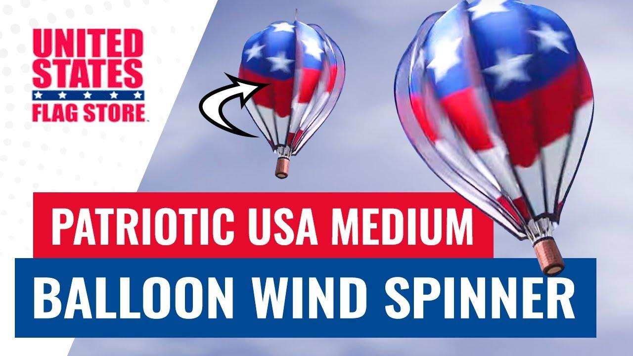 Patriotic Usa Balloon Wind Spinner Medium Youtube