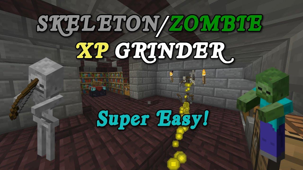 minecraft tutorial fast efficient skeleton zombie xp farm