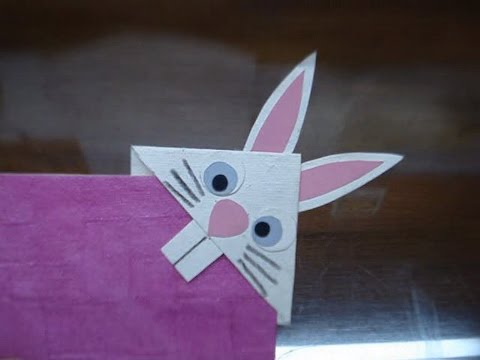 DIY How to make Bunny Rabbit Bookmark