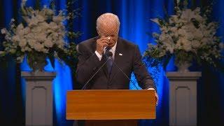 Joe Biden nimmt Abschied von John McCain: Trauer-Rede mit Tränen rührt zu Tränen