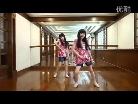 Cute twins Sandy Mandy  dance cover  fx  Hot Summer 360p