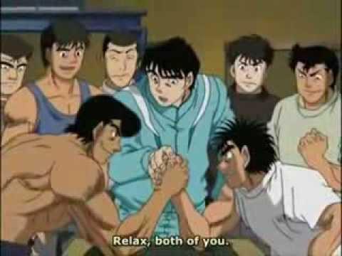 Ippo vs takamura arm wrestling