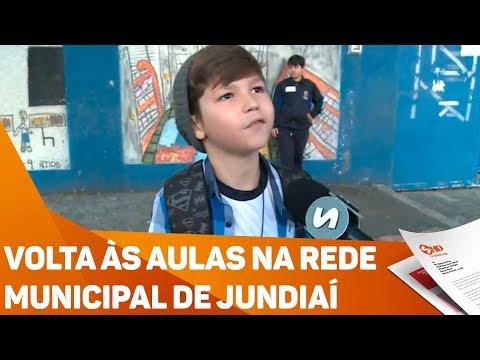 Volta às aulas na rede municipal de Jundiaí - TV SOROCABA/SBT