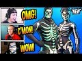 "STREAMERS REACT TO *NEW* ""SKULL RANGER"" SKIN + SKULL TROOPER STYLES! Fortnite FUNNY Moments"