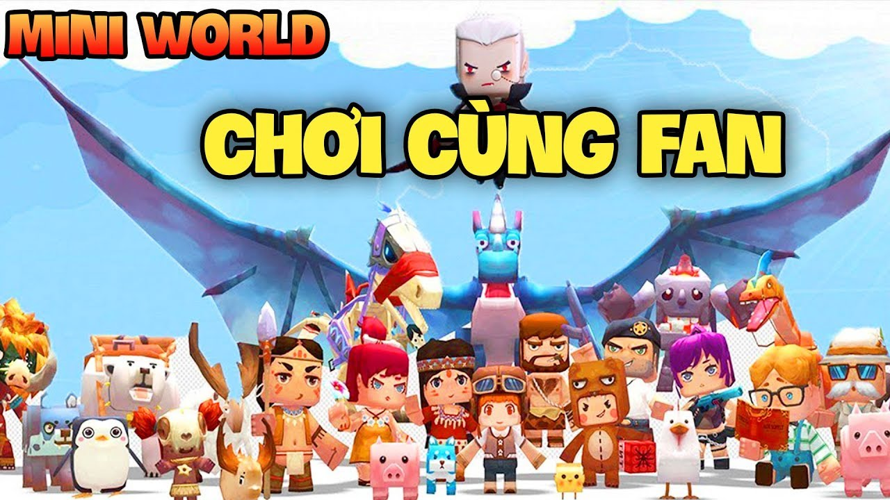 Mini World Block Art : THỬ THÁCH CÙNG FAN SINH TỒN TRONG MINI WORLD*GUMBALL Mini World