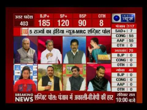 Watch India News -MRC Exit Poll of Punjab assembly elections with Deepak Chaurasia