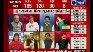 watch india news mrc exit poll of punjab assembly elections with deepak chaurasia