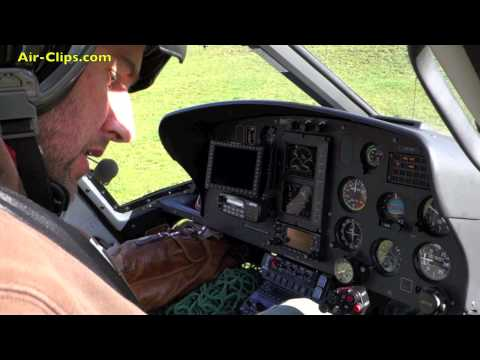 Swiss Helicopter Aerospatiale AS350B3e Ecureuil helicopter - Wildhaus takeoff! [AirClips]