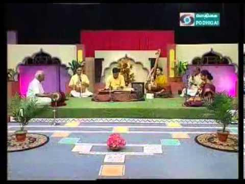 Chitravina N Ravikiran, Akkarai S Subhalakshmi, and Palghat R Raghu on DD Podhigai