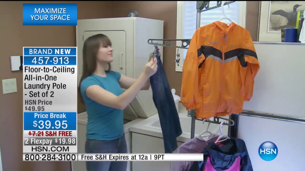 John Cremeans Guests On Hsn With The Floor To Ceiling Laundry Pole 01252017