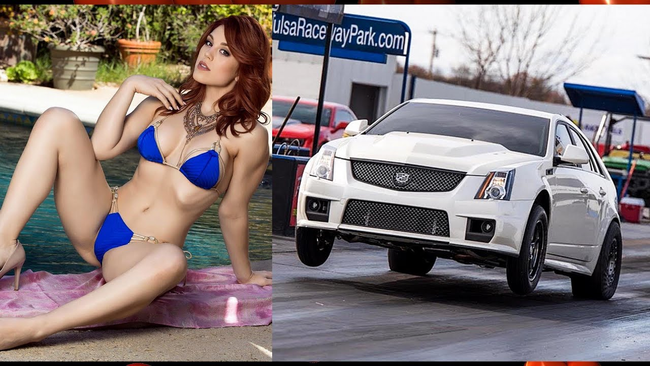 Red Hot Chicks, Hot Rods Muscle Cars, & Car Wheelies!