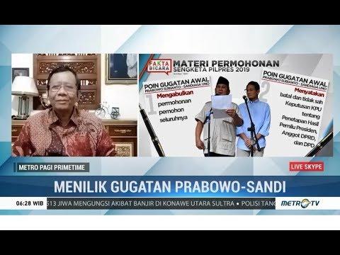 Mahfud MD: Bukti Permohonan Gugatan Prabowo Tidak Mempunyai Kekuatan Hukum