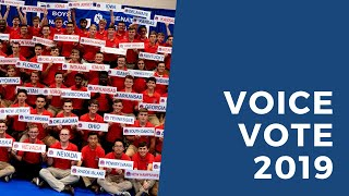 Boys Nation 2019 voice vote for President.