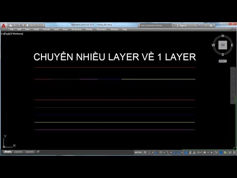 Chuyển nhiều layer về 1 layer trong cad