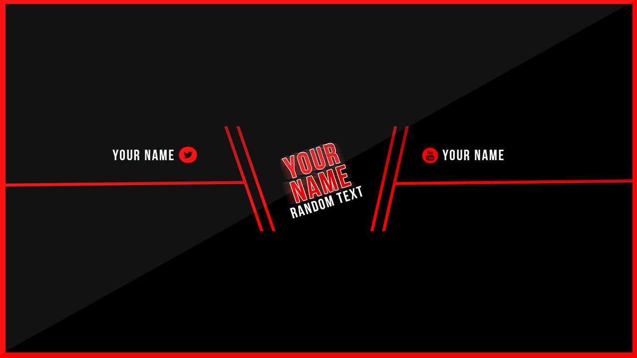 youtube blank banner template download youtube inside