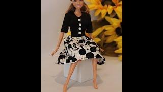 Как сшить платье для куклы Барби. / How to make dress for Barbie dolls(, 2015-10-24T02:47:08.000Z)