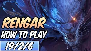 HOW TO PLAY RENGAR JUNGLE | Best Build & Runes | Diamond Commentary | League Of Legends | S9